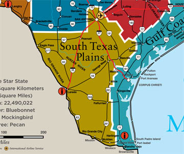South Texas Plains Leighas Blog - Map of south texas