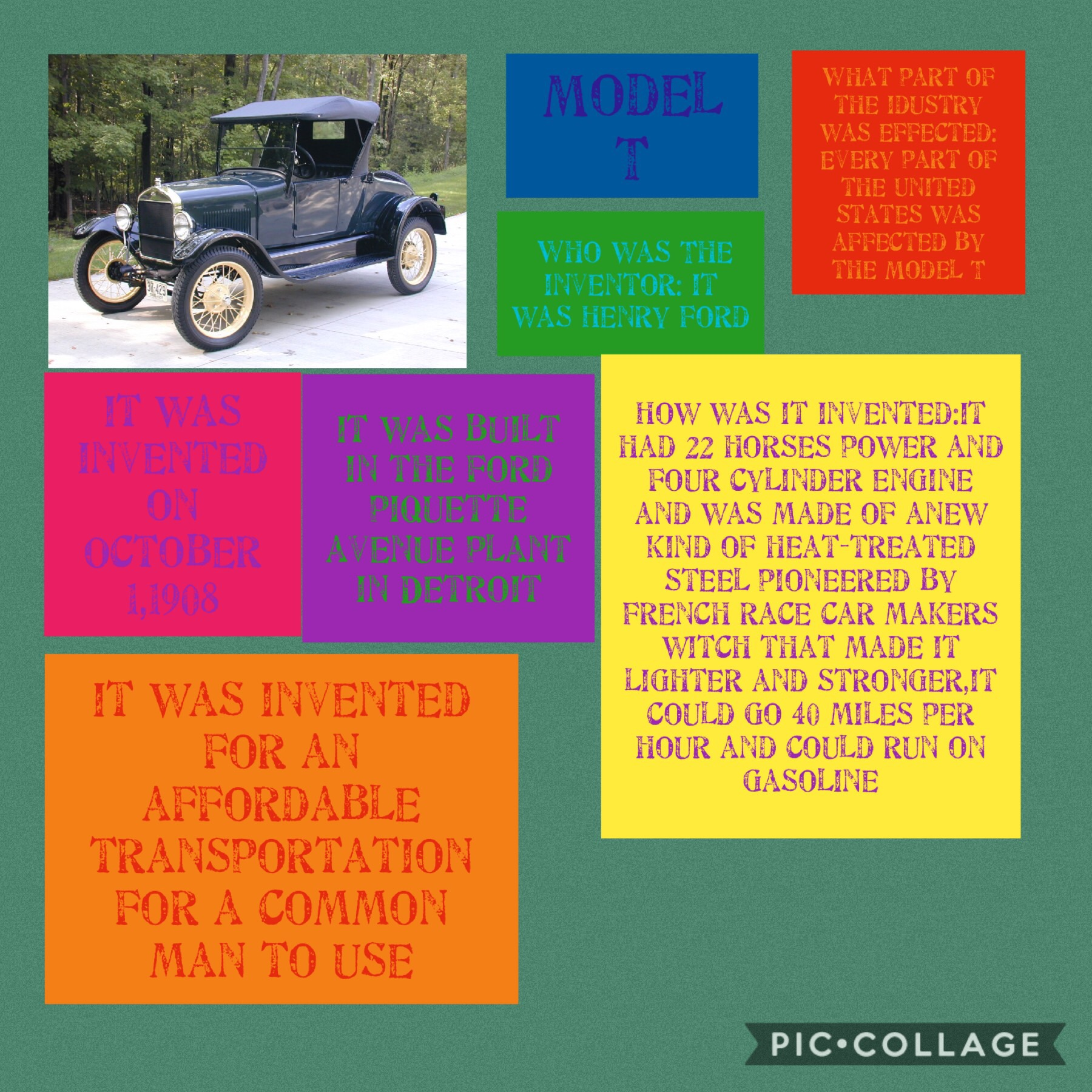 who invented model t