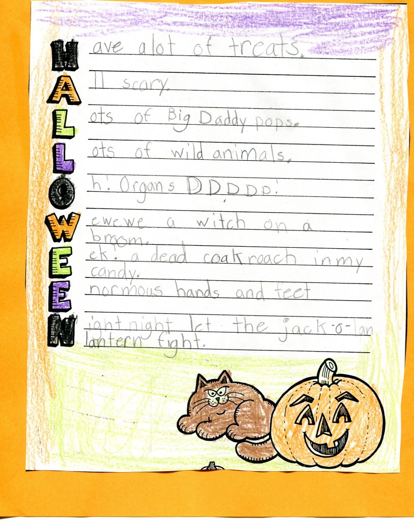 Halloween Acrostic