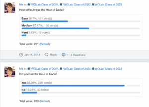 Edmodo Hour of Code Polls