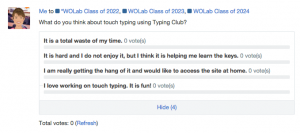 Edmodo Typing Poll