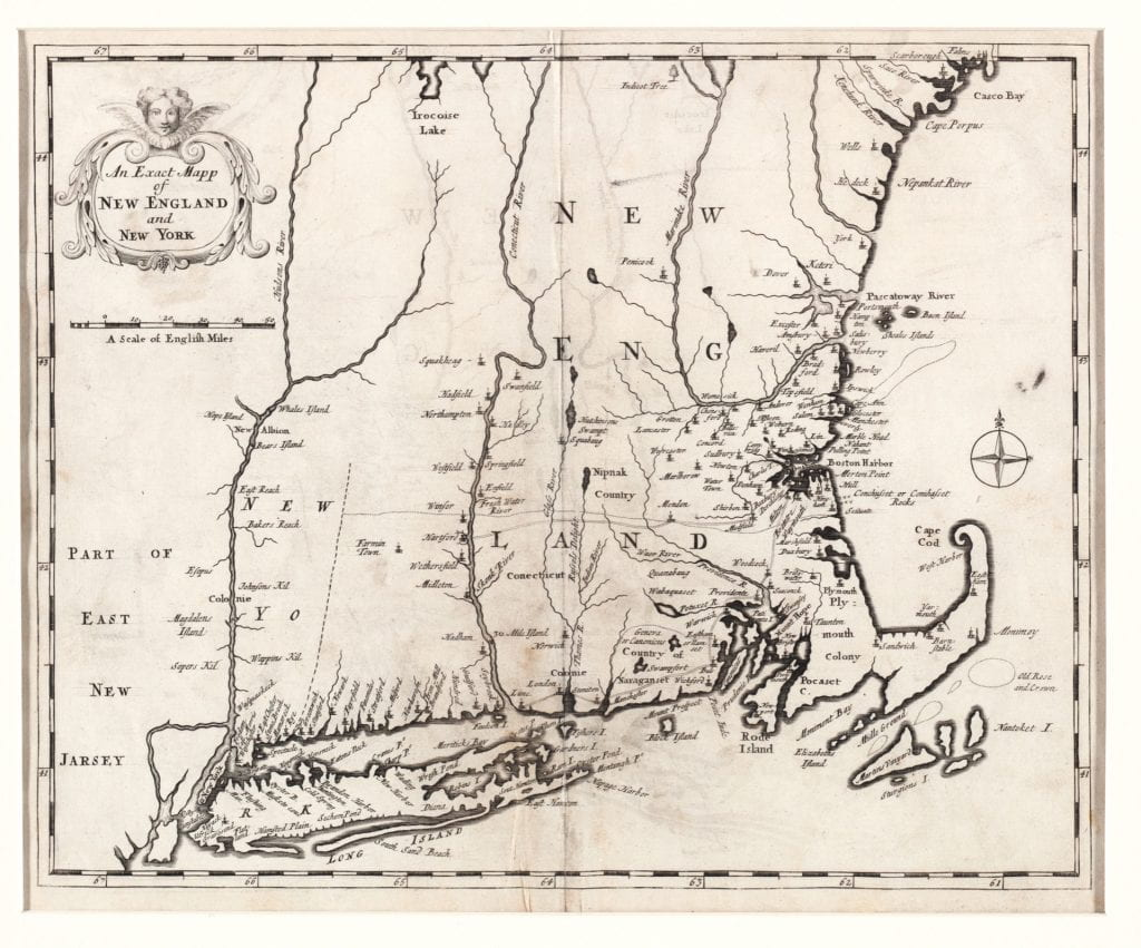 An exact mapp of New England and New York