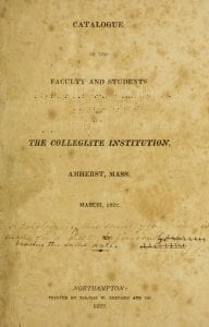 title page from the 1821/22 catalog.