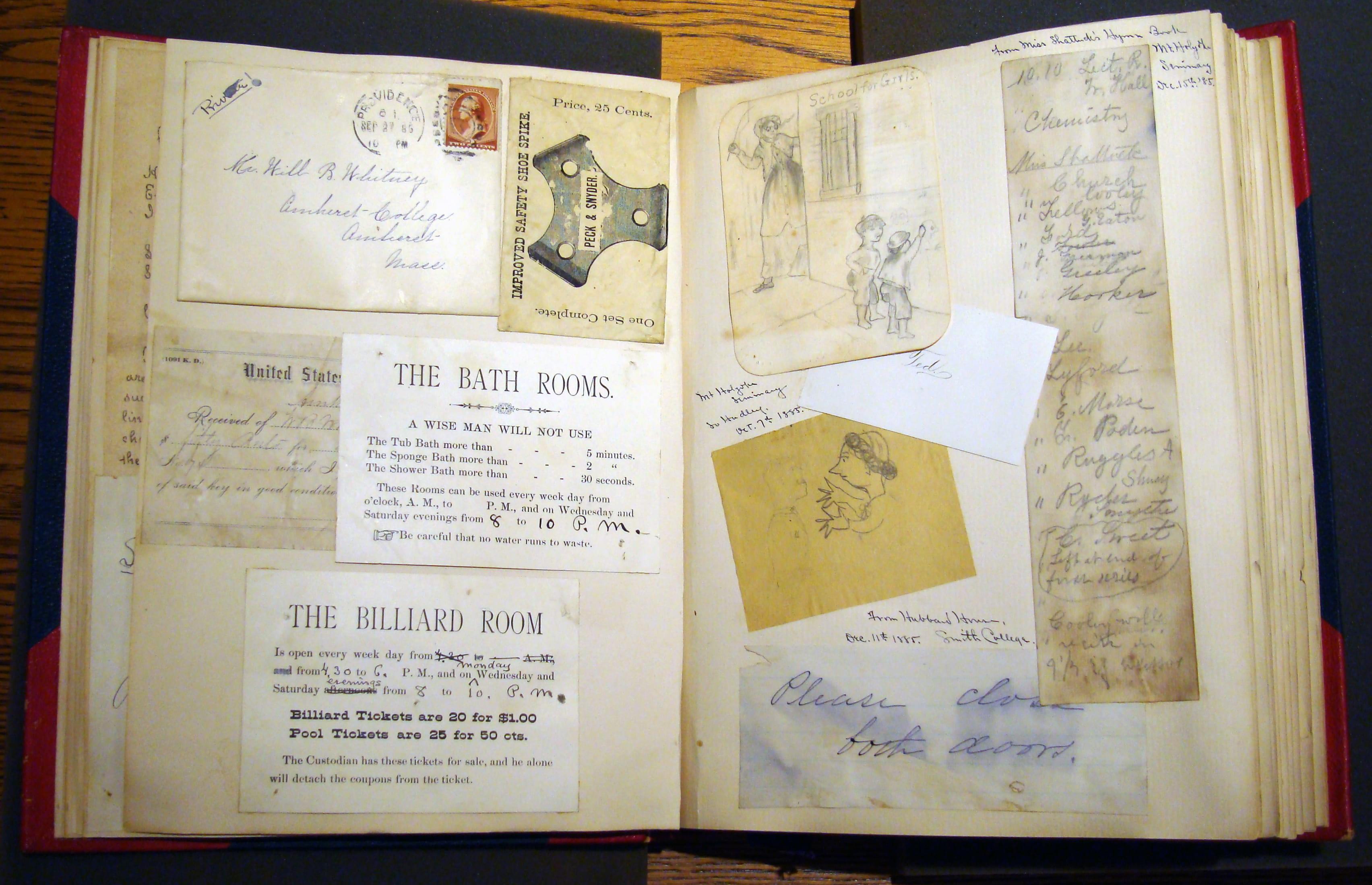 William Belcher Whitney (AC 1887) scrapbook