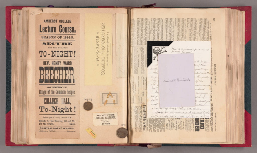 image of scrapbook from 1880's