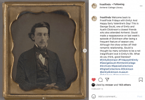 screenshot of @FrostFinds Instagram post about George Gould