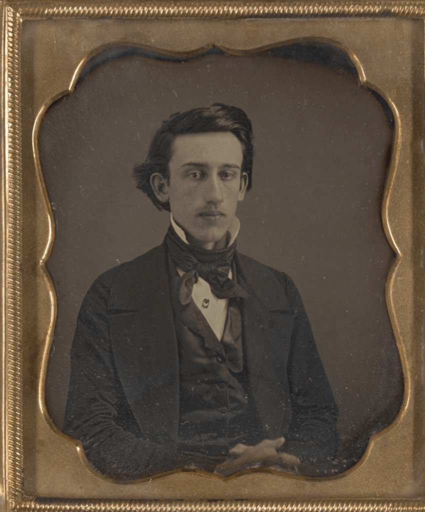 Daguerrotype with gold frame