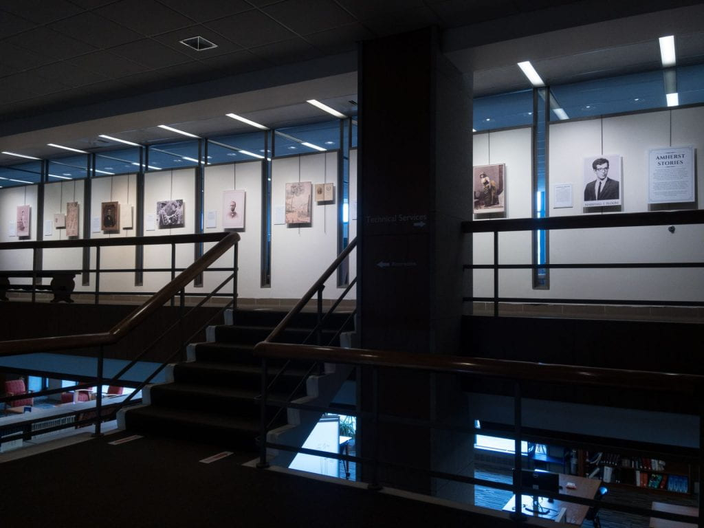 picture of poster exhibit in Frost library