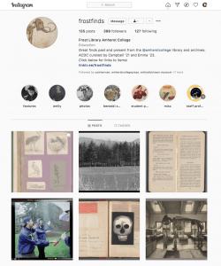 screen capture of @frostfinds instagram page