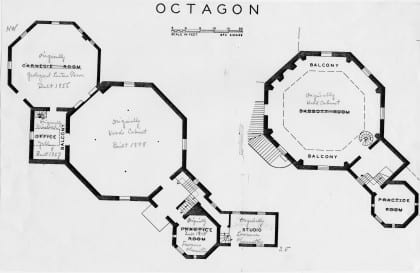 A hitch in time drawing the plans a digital humanities for Octagon shaped house plans