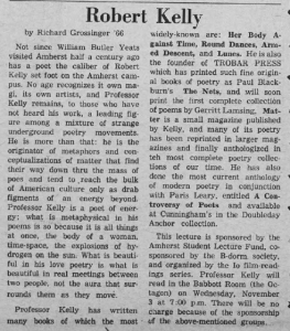On Robert Kelly, by Richard Grossinger