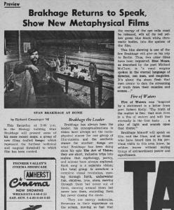 Grossinger on Brakhage's Metaphysical Films