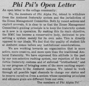 Phi Psi's Open Letter