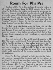 Phi Psi's tolerant social structure