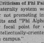 Criticism of Phi Psi