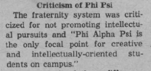 Criticism of Phi Psi
