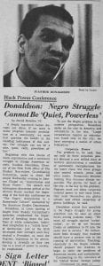 """Black Power Conference: Donaldson, Negro Struggle Cannot Be 'Quiet, Powerless'"""