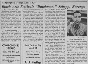 """Black Arts Festival: 'Dutchman,' Schepp, Karenga"""