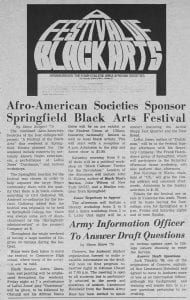 """Afro-American Societies Sponsor Springfield Black Arts Festival"""