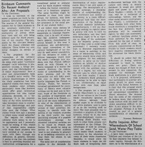 """Letters to the Chairman: Birnbaum Comments on Recent Afro-Am Proposals"""