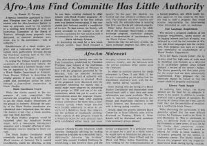 """Afro-Ams Find Committee Has Little Authority"""