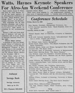 """Watts, Haynes Keynote Speakers For Afro-Am Weekend Conference"""