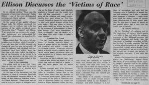 """""""Ellison Discusses the 'Victims of Race'"""""""