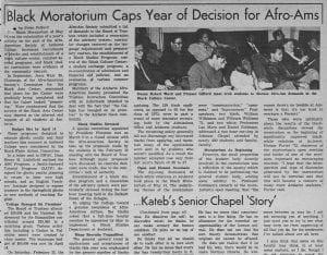 """""""Black Moratorium Caps Year of Decision for Afro-Ams"""""""
