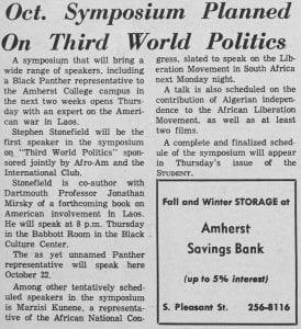 """""""Oct. Symposium Planned On Third World Politics"""""""