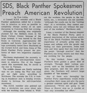 """SDS, Black Panther Spokesmen Preach American Revolution"""