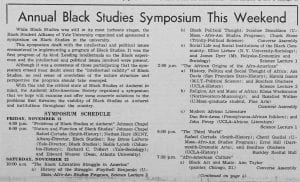 """Annual Black Studies Symposium This Weekend"""