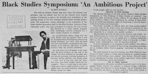 """Black Studies Symposium: 'An Ambitious Project'"""