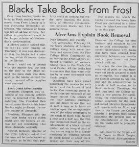 """Blacks Take Books From Frost"""
