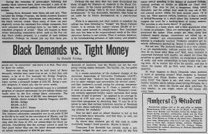 """""""Black Demands vs. Tight Money"""""""