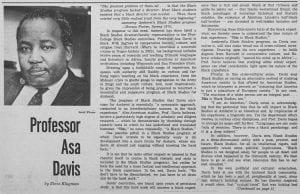 """Professor Asa Davis"""