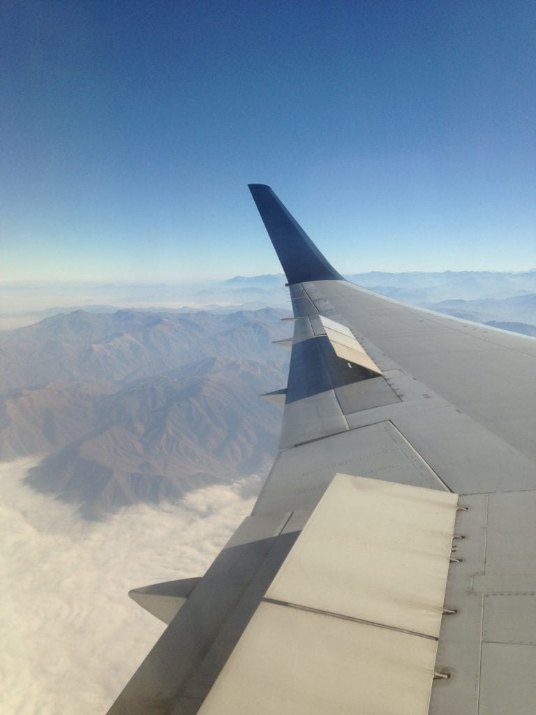 A view from above the Andes