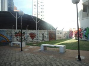 La plaza de la diversidad sexual de Montevideo. Not the giant park I was expecting, but it's still a very tranquil space and features beautiful murals (Photo Credit: Matt Randolph)