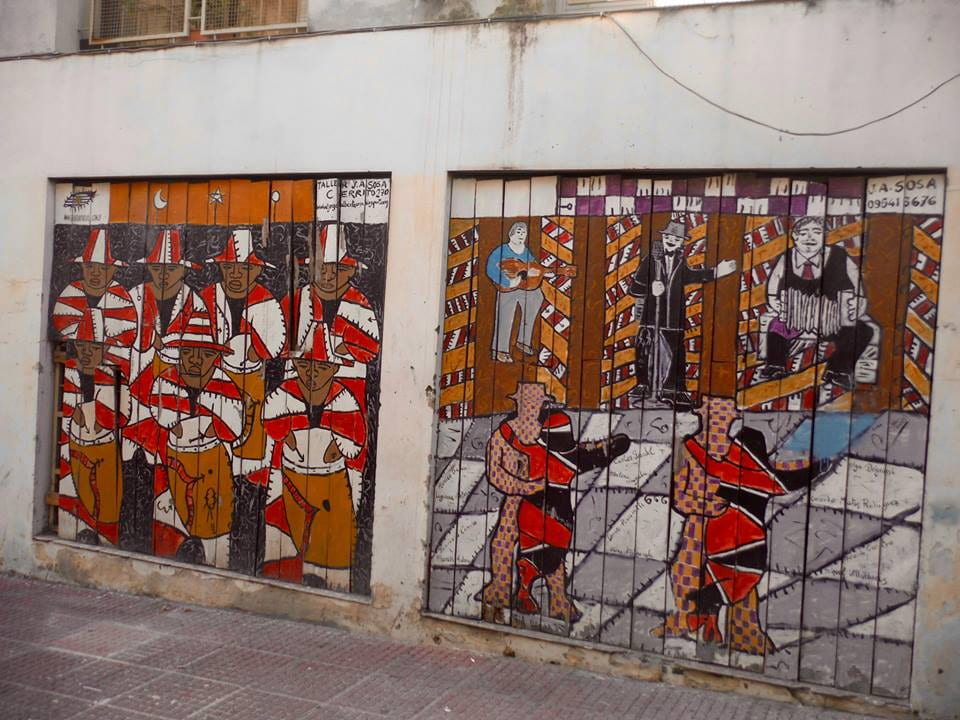 A mural spotted in Montevideo's Ciudad Vieja featuring candombe music and dance. (Photo Credit: Matt Randolph)