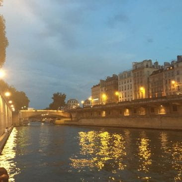 sunset at the river Seine