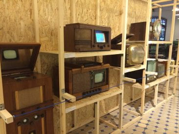 I ducked into a museum of television and saw the first Soviet televisions and they were rad.