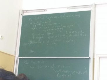 (A couple of pictures from abstract algebra, a class that has induced many headaches.)