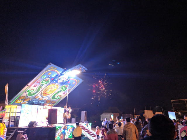 Taiwanese opera: Post-show fireworks and a smaller dance show on the side