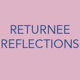 Returnee reflections button