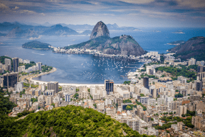 View of Rio de Janeiro from above