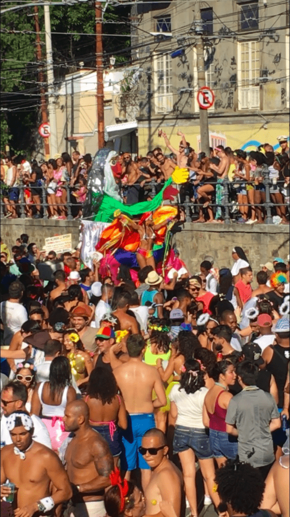 Large crowd during Carnaval in Rio de Janeiro