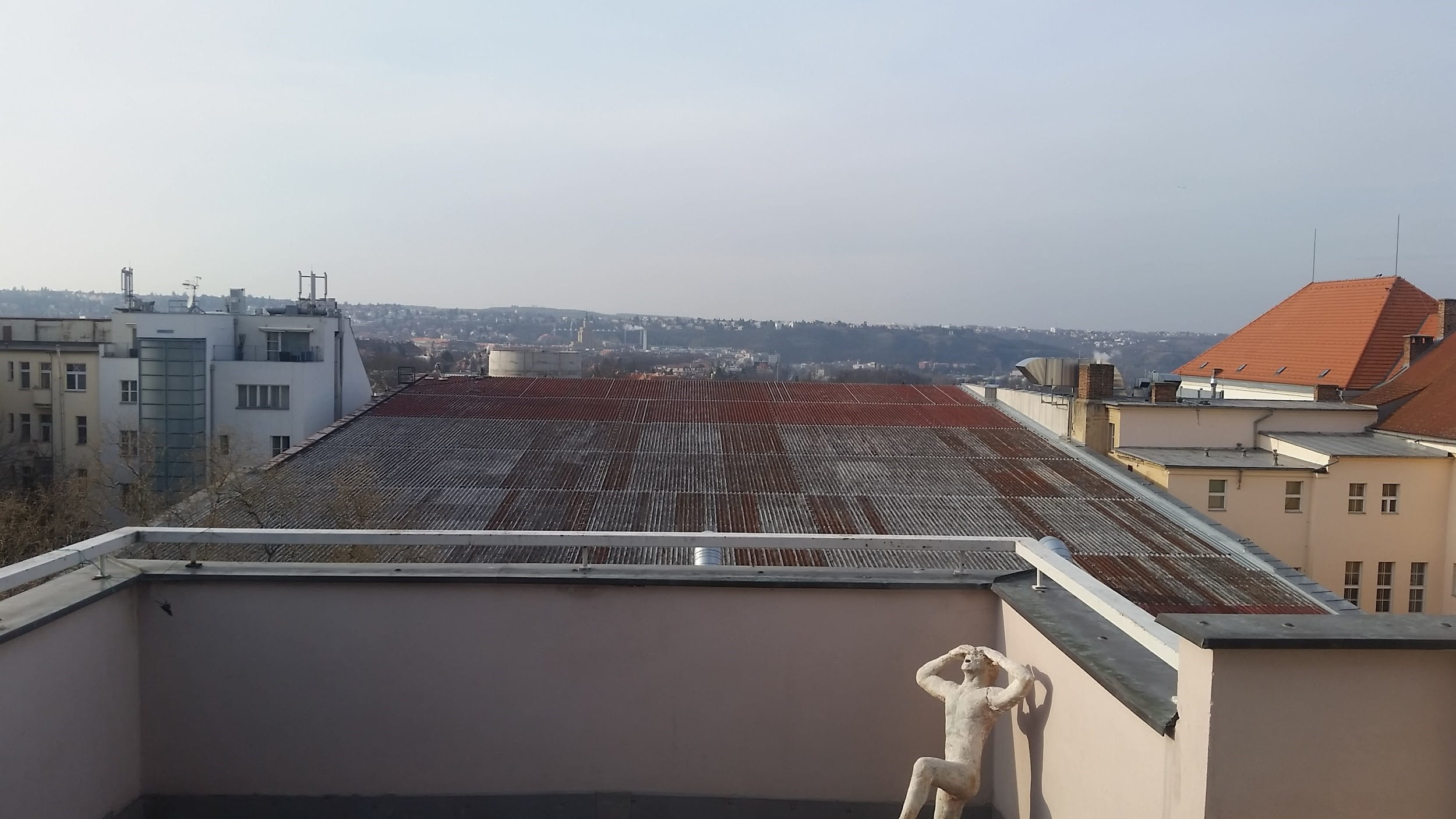 Balcony overlooking Prague