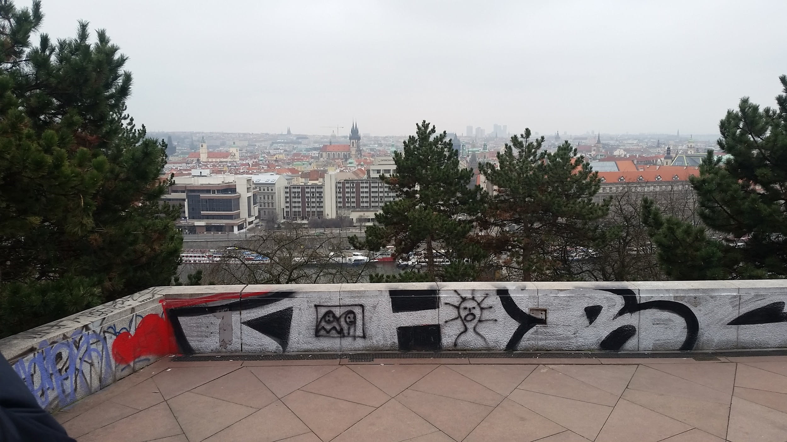 View of Prague from rooftop