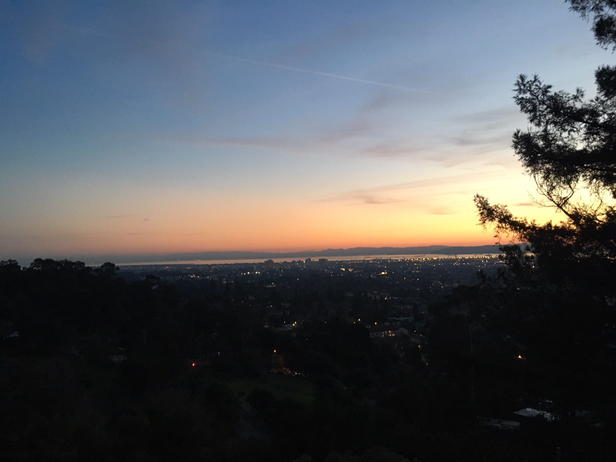 Sunset over Berkeley