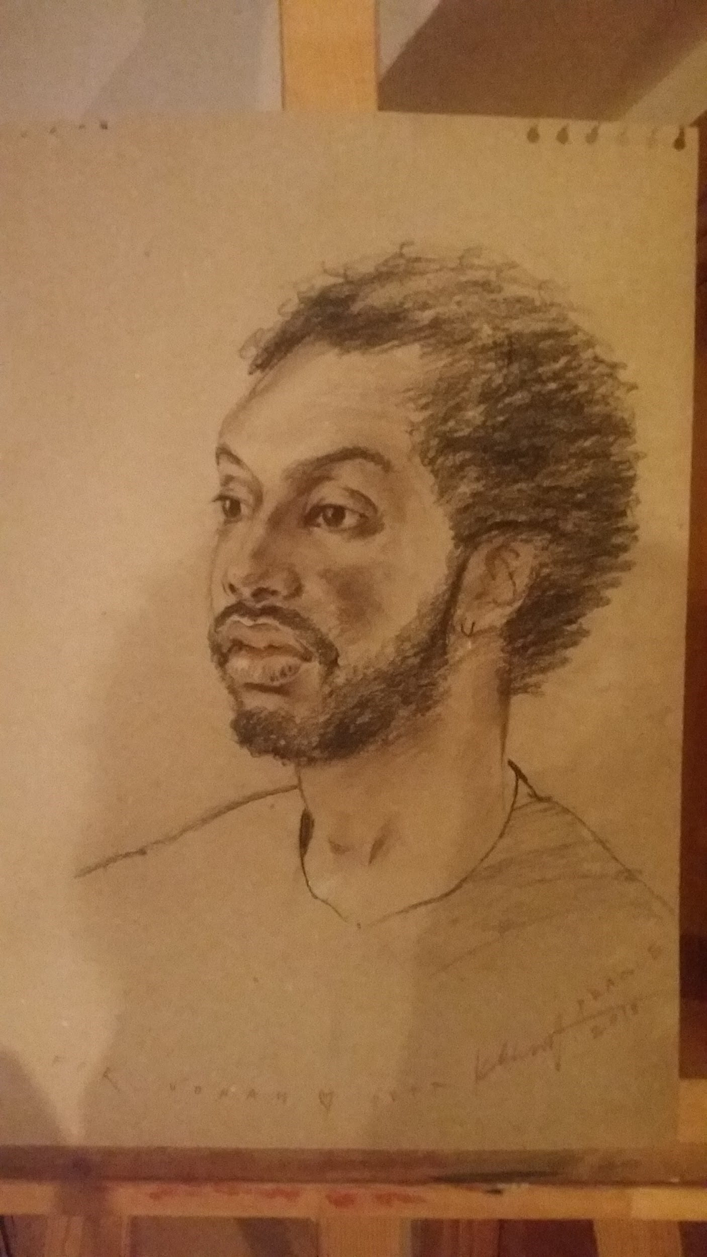 Portrait of Jonah Drawn by His Host Dad
