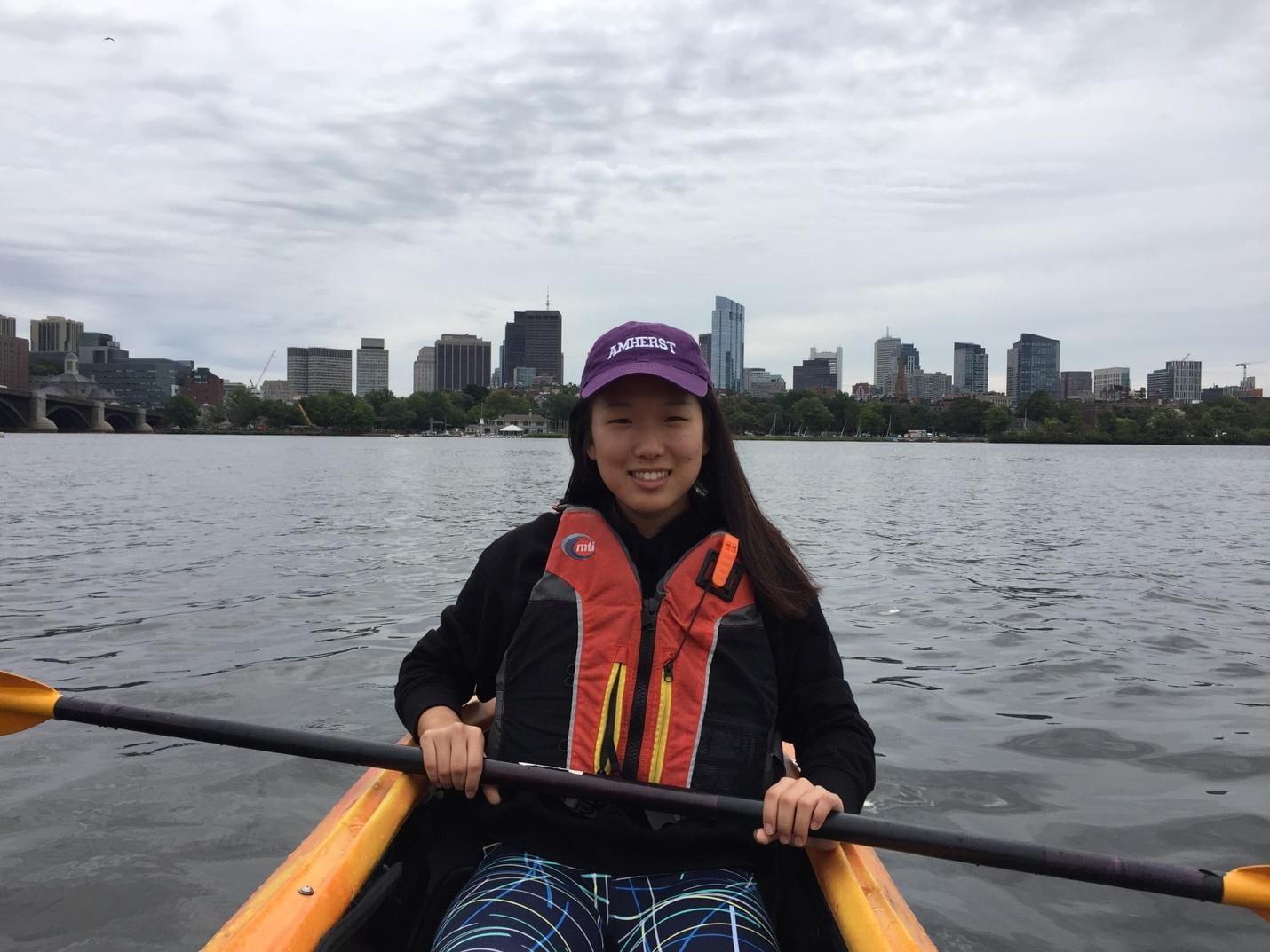 Emily kayaking